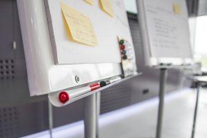Financial training whiteboard