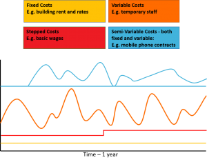 cost behaviour chart